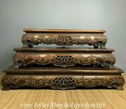 16.4 Old Chinese Huanghuali Wood Fengshui Table Desk Statue Set