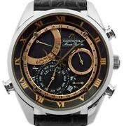 Citizen Campanola Ah7061-00e Quartz Black Dial Menand039s Watch Pre Owned [u0411]