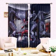 Brave Swat Officers Fight 3d Blockout Photo Print Curtain Fabric Curtains Window