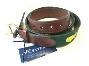 New 2021 Augusta National Masters Smathers And Branson Hand Stitched 34 Waist Belt