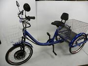 Blue Motorized Electric Three Wheels Tricycle Adult Scooter Motorized Trike