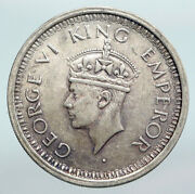 1945 India States Indian Coin Uk King George Vi Antique Silver Rupee Coin I90268