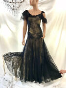 Alexander Mcqueen Lace Painted Pre Death Vintage Lovely Gown