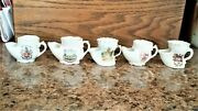 5 Vintage Miniature Scuttle Shaving Mugs Only 2 With Makers Marks