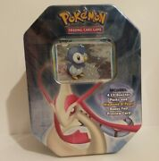Pokemon 2007 Piplup Tin Box With 4 Sealed Ex Booster Packs Ex Dragon Frontiers