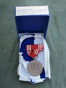 Wwii Us Army Good Conduct Medal In Original 1943 Dated Box