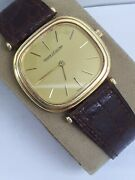 Vtg Rare Jaeger Lecoultre 18k Solid Gold Manual Wrist Watch Menand039s Swiss Square