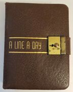 Vintage 5 Year Diary 1938.1942. Hand Written Leather Made In Usa. 6x4
