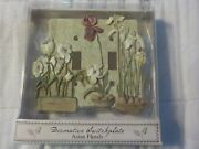 New Vintage Decorative Switchplate Dbl Light Switch Plate Cover / Asian Florals