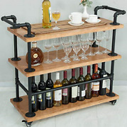 Industrial Bar Carts/serving Carts/kitchen Carts/wine Rack Carts On Wheels With