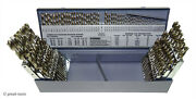 """Drill Bit Set, 115-pc, Hss, 1-60, A-z, 1/16"""" To 1/2"""" 1/64 Increments, Usa Made"""