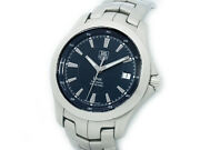 Wristwatch Tag Heuer Link Wjf2112 Ba0570 Used Menand039s Analog Silver Navy