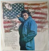 Johnny Cash Autographed Ragged Old Flag 1974 Promo Poster
