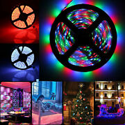 16ft Flexible 3528/rgb Led Smd Strip Light Remote Fairy Lights Room Tv Party Bar