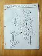Delta 15 Special Drill Press Old Style 15-069 15-070 Parts List Dp-8