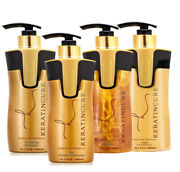 Keratin Cure Best Gold And Honey Treatment Bio Protein 10oz Silky Hair 4pc Kit