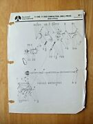 Rockwell 11-000 11-020 Compactool Drill Press Old Style Parts List Dp-1
