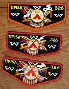 Tipisa Lodge Order Of The Arrow Patches - Three Miscellaneous Flaps - 1 Of 2