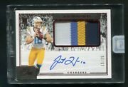 2020 Panini One Justin Herbert Rookie Rc Patch Auto Autograph 15/25 Chargers