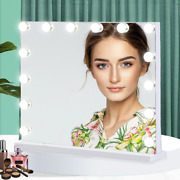 50x40cm Large Frameless Hollywood Lighted Makeup Mirror W/ 14 Dimmable Led Light