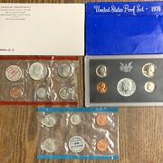 1970 Us Mint And Proof Uncirculated Coin Sets P D S 15 Coins 40 Silver Halves