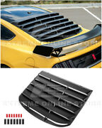 For 15-up Ford Mustang Fastback Abs Plastic Rear Window Louver Sun Shade Cover