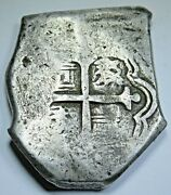 1678-1701 Mexico Silver 8 Reales Antique 1600and039s Spanish Colonial Pirate Cob Coin