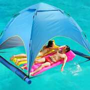 Swimming Pool Water Floating Shade Cabana Tent Folding Lake Beach Instant Pop Up