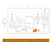 Gm Oem Door Side Rear View Mirror-mirror Assembly Cover Left 25861018