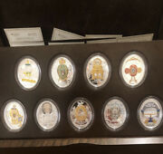 Imperial Faberge Eggs - Full Set Of 9 Gold Plated Silver Coins - Niue 1 - 2015