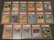 Pokemon Cards Psa 9 And 10 17 Card Bundle- Reduced Price For This Weekend Only