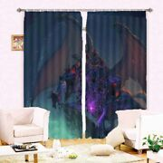 Great Monsters Of Terror 3d Blockout Photo Print Curtain Fabric Curtains Window