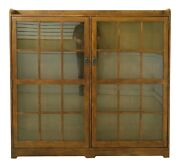 F51801ec Mission Style Arts And Crafts 2 Door Oak Bookcase