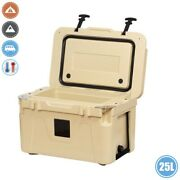 25l Ice Cooler Cool Box Insulated Thermal Portable Travel Camping Boat Truck Tan