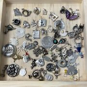 Vintage Sterling Silver Charm Lot Over 60 Charms