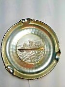 Silver Navy Ashtray- U.s.s Forrest Royal - 5 Diameter - Very Cool