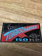 1962 Chevrolet Corvair Spyder 150hp Turbo Engine Air Cleaner Decal Sticker Late