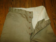 Vintage Us Army Military Uniform Trousers Chino Pant Button Fly Wwii S Z 31 X31