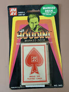 New Vintage The Great Houdini Marked Deck Playing Card Tricks
