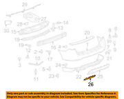 Chevrolet Gm Oem Equinox Rear Bumper-access Or Tow Hitch Cover Panel 25939765