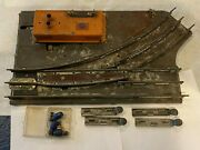 Pre War American Flyer Lines Limited Switch Track Lh Gilbert Co + Bulbs + Clips
