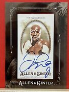 2017 Allen And Ginter Floyd Mayweather Autograph Card