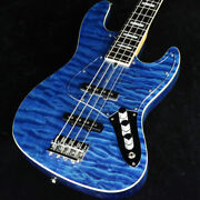 Used Bacchus Global Series Wl-007 Electric Bass Guitar Blue Oil Dinky Size Jb