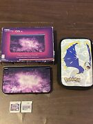 New Nintendo 3ds Xl Galaxy Edition With Charger, Case, And Games