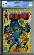 Micronauts 1 Cgc 9.2 White Pages // 1st Appearance Of Baron Karza 1979