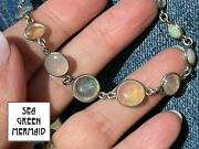 Australian Crystal Jelly Opal Necklace In 925. Antiquevideo_t130