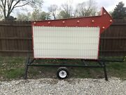 New Portable Marquee Changeable Letter Sign. 4andrsquox8andrsquo With Trailer Option Package.