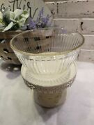 Vintage Pyrex Ribbed Pink Tint Glass Bowl 6 Cup 7402-s 1.5 L As Is Small Chip