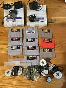Snes Lot With 9 Games 2 Consoles And 4 Controllers Super Nintendo