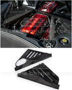 For 20-up Corvette C8   Gm Factory Style Carbon Fiber Engine Bay Panel Cover
